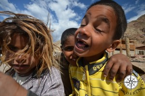 Kids playing around for the camera in Dahab, Egypt