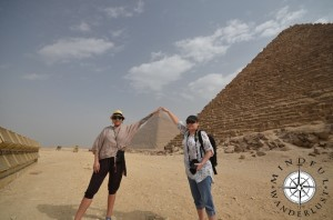 Giselle and Cindy at the Pyramids of Giza