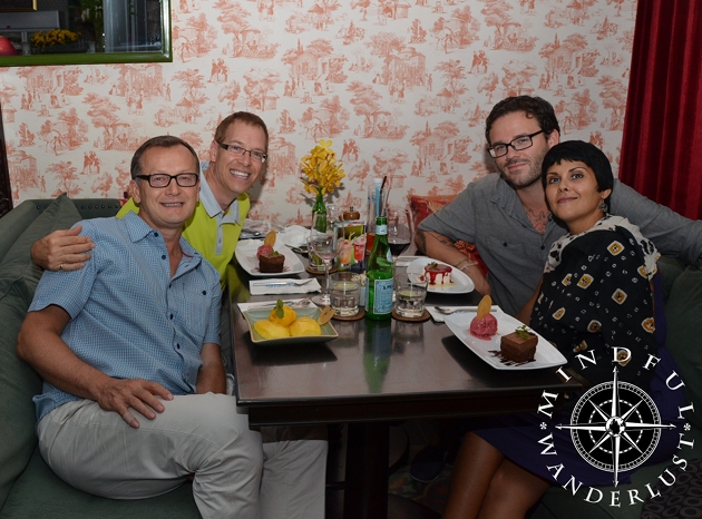 Mark and Dietmar treat us to dinner in Chiang Mai, Thailand