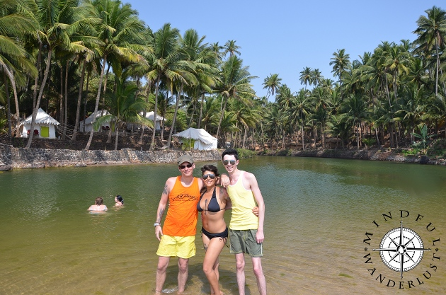 Sy, Giselle and Dale in Goa, India
