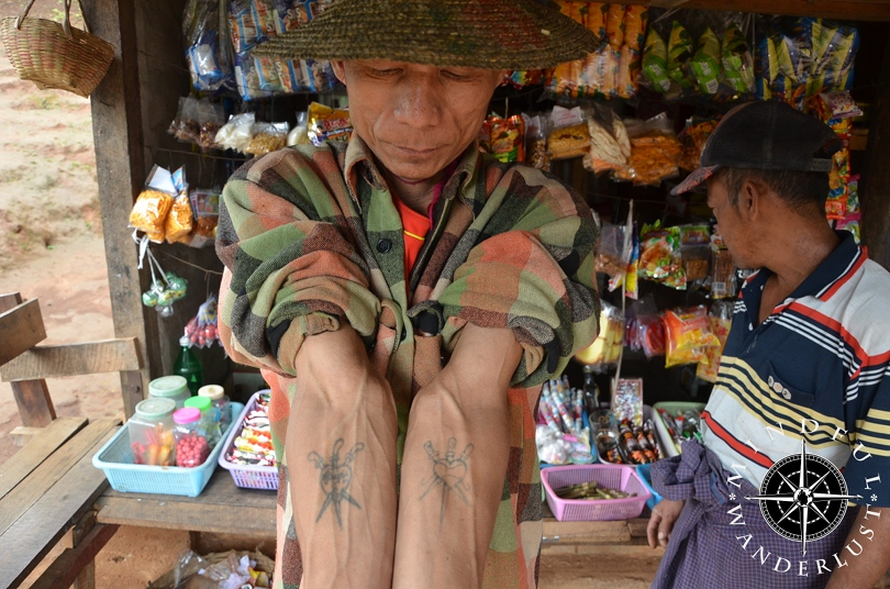 Tattooed people in Myanmar