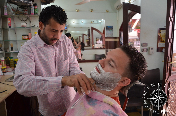 Cody Getting A Shave In Dahab