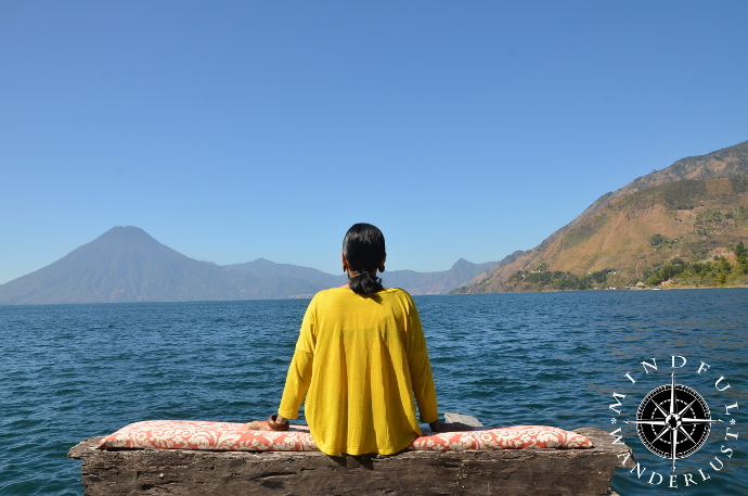 Relaxing on Lake Atitlan