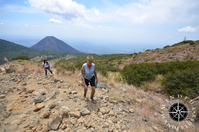 Heading up Santa Ana Volcano